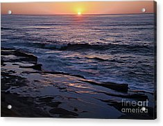 La Jolla Sunset Reflection Acrylic Print