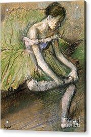 La Jupe Verte Acrylic Print by Edgar Degas