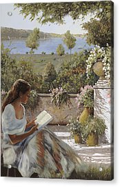 La Lettura All'ombra Acrylic Print by Guido Borelli