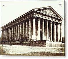 La Madeleine, Paris, France, Édouard Denis Baldus Acrylic Print