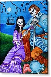 La Malinche Y Cortes Acrylic Print by Evangelina Portillo