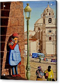 La Mujer Misteria Acrylic Print by Andre Salvador