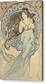 La Musique, 1898 Watercolour On Card Acrylic Print