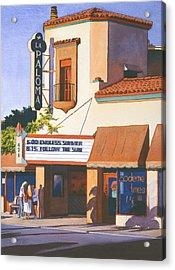La Paloma Theater In Encinitas Acrylic Print by Mary Helmreich