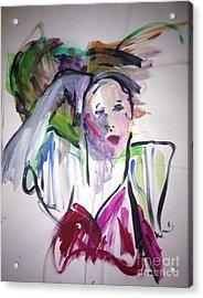 La Parisian Acrylic Print by Elaine Schloss