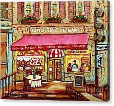 La Patisserie De Nancy French Pastry Boulangerie Paris Style Sidewalk Cafe Paintings Cityscene Art C Acrylic Print