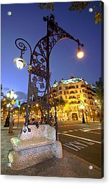 La Pedrera From Gaudi Acrylic Print by Javier Fores