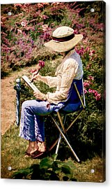 Acrylic Print featuring the photograph La Peintre by Chris Lord