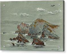 La Penyona Seascape Acrylic Print by Juan  Bosco