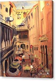 La Petit Gourmet Of The Italian Court Bldg 619 N. Michigan Ave. Chicago  Acrylic Print