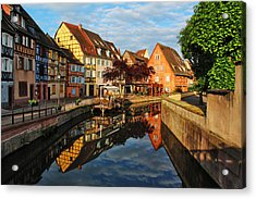La Petite Venice Reflections In Colmar France Acrylic Print by Greg Matchick