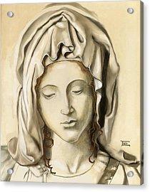 Acrylic Print featuring the painting La Pieta 2 by Terry Webb Harshman