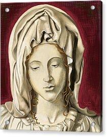 Acrylic Print featuring the painting La Pieta 3 by Terry Webb Harshman