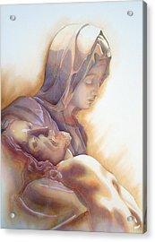 La Pieta By Michelangelo Acrylic Print
