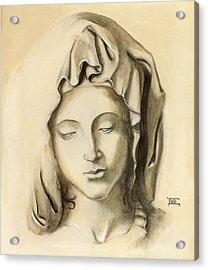 Acrylic Print featuring the painting La Pieta-progression 1 by Terry Webb Harshman
