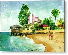 La Playa Hotel Isla Verde Puerto Rico Acrylic Print