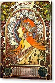 La Plume Zodiac Acrylic Print