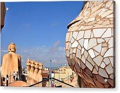 La Predrera Gaudi House Barcelona Acrylic Print by Diane Lent