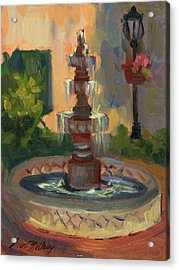La Quinta Resort Fountain Acrylic Print by Diane McClary