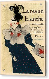 La Revue Blanche Acrylic Print by Gianfranco Weiss