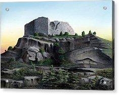 La Rocca De Monte Calvo Acrylic Print by Albert Puskaric