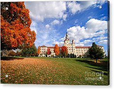 La Roche College On A Fall Day Acrylic Print by Amy Cicconi
