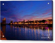 La Rochelle Night Acrylic Print