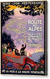 La Route Des Alpes Acrylic Print