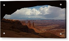 La Sal Mountains Through Mesa Arch Acrylic Print