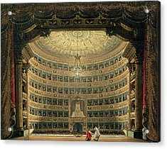 La Scala, Milan, During A Performance Acrylic Print by Italian School