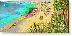 La Spiaggia Acrylic Print
