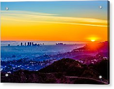 La Sunset Acrylic Print by Carl Larson Photography