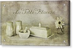 La Table Blanche - The White Table Acrylic Print