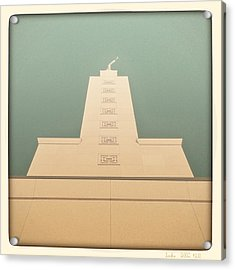 Acrylic Print featuring the photograph L.a. Temple Green by Kevin Bergen