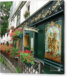 La Terrasse In Montmartre Acrylic Print