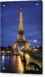 Acrylic Print featuring the photograph La Tour Eiffel by Ryan Wyckoff