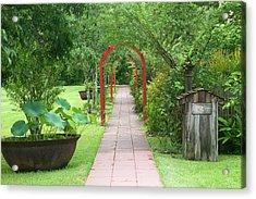 La, Vacherie, Laura Plantation, Walkway Acrylic Print