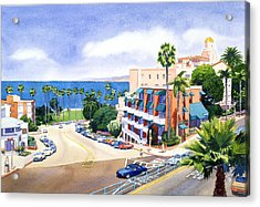 La Valencia And Prospect Park Inn Lj Acrylic Print by Mary Helmreich