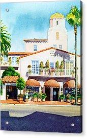 La Valencia Hotel Acrylic Print by Mary Helmreich