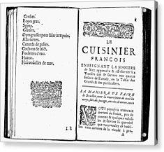 La Varenne Cookbook, 1686 Acrylic Print by Granger