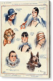 La Vie Parisienne 1924 1850s France F Acrylic Print by The Advertising Archives