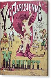 La Vie Parisienne Quadrille Poster Acrylic Print by English School
