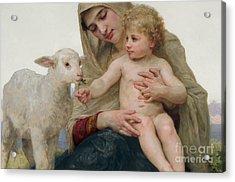 La Vierge A Lagneau Acrylic Print by William-Adolphe Bouguereau