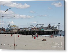 Labor Day At The Pier  Acrylic Print by Laura Wroblewski