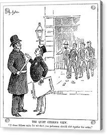 Labor Movement Cartoon Acrylic Print by Granger