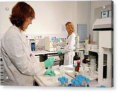Laboratory Dosimeter Use Acrylic Print by Public Health England