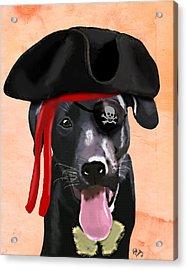 Labrador Pirate Acrylic Print by Kelly McLaughlan