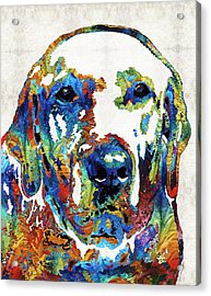 Labrador Retriever Art - Play With Me - By Sharon Cummings Acrylic Print