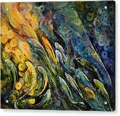 Labradorite The Provoker Acrylic Print by Natalia Lvova