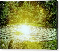 Labyrinth Myth And Mystical Acrylic Print by Becky Lupe